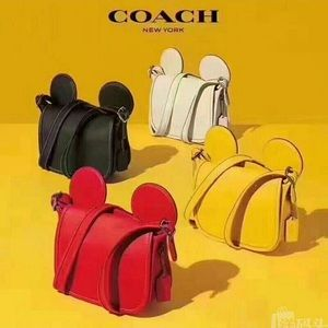 🎉New Coach Disney Mickey Leather Ear Purse